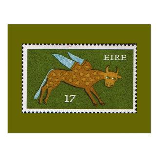Cartão Postal Selo postal decimal de Eire Ireland 1974