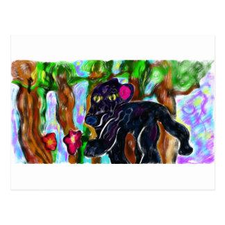 Cartão Postal selva bonita da pantera preta