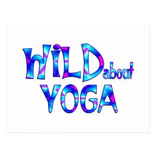 Cartão Postal Selvagem sobre a ioga