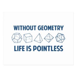 Cartão Postal Sem geometria a vida é injustificada