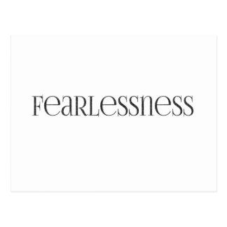 Cartão Postal sem medo poderoso forte do fearlessness