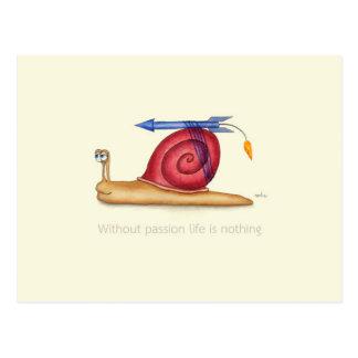 Cartão Postal Sem paixão a vida não é nada
