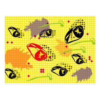 Cartão Postal Sementes de flores do pop art