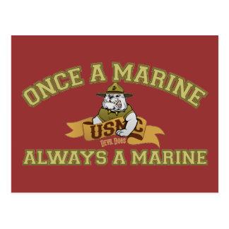 Cartão Postal Sempre um fuzileiro naval