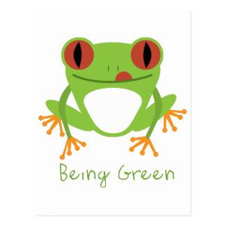 Cartão Postal Sendo verde