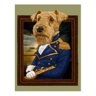 Cartão Postal Senhor Airedale Terrier