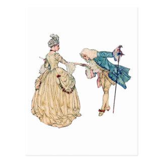 Cartão Postal Senhor do Victorian e senhora Ilustração