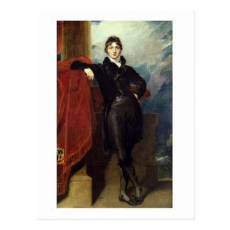 Cartão Postal Senhor Granville Leveson-Gower, mais tarde ø conde