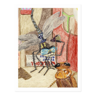 Cartão Postal Senhor Humphrey Libélula Detetive