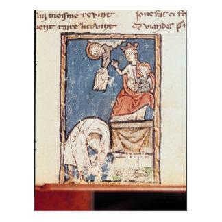Cartão Postal Senhora 3516 f.127 o Juggler de Notre Dame