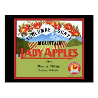 Cartão Postal Senhora Apple Rotulagem de Tuolomne