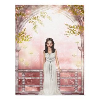 Cartão Postal Senhora Awaiting do duende