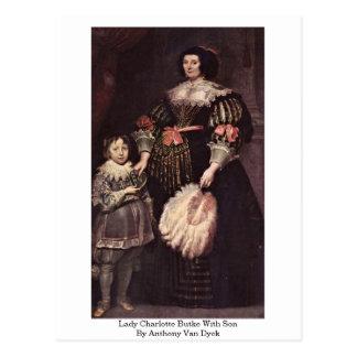 Cartão Postal Senhora Charlotte Butke com o filho por Anthony