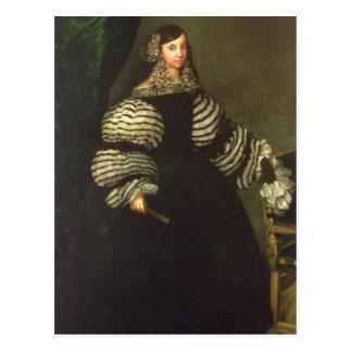 Cartão Postal Senhora da família de Medinaceli, c.1683
