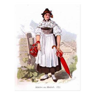 Cartão Postal Senhora de Munich, 1873