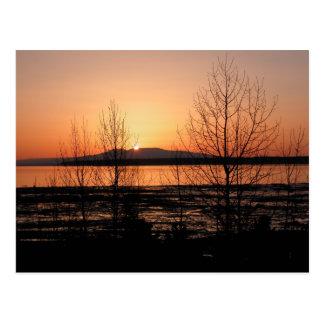 Cartão Postal Senhora de sono Por do sol - Anchorage, Alaska