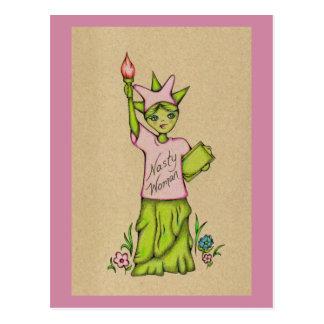 Cartão Postal Senhora desagradável Liberdade da mulher