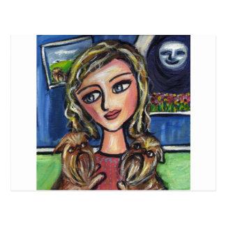 Cartão Postal Senhora do favorito do abraço de Griffs