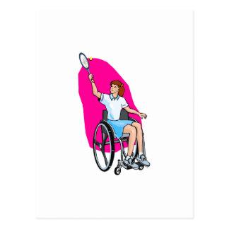 Cartão Postal Senhora do tênis