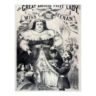 Cartão Postal Senhora gorda premiada