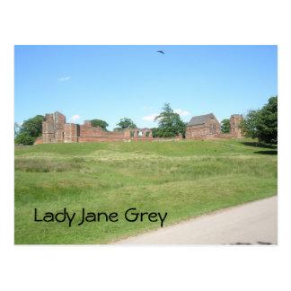 Cartão Postal Senhora Jane Cinzento