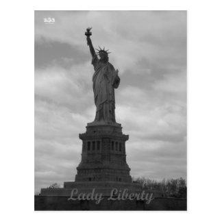 Cartão Postal Senhora Liberdade de N.Y.E