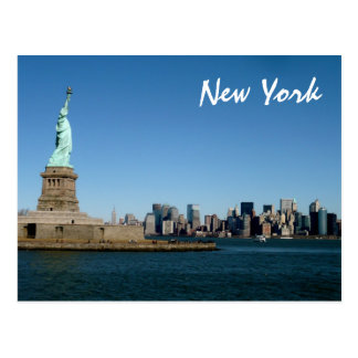 Cartão Postal Senhora Liberdade Observação Sobre NYC (cor)