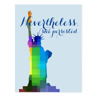Cartão Postal Senhora Liberdade Persistência
