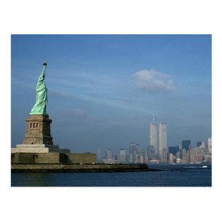 Cartão Postal Senhora Liberdade & World Trade Center NYC das