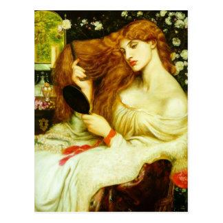 Cartão Postal Senhora Lilith de Dante Gabriel Rossetti-