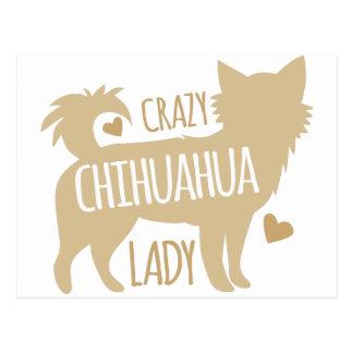 Cartão Postal senhora louca da chihuahua