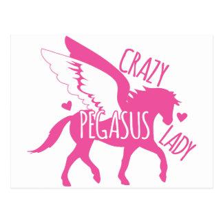 Cartão Postal Senhora louca de Pegasus