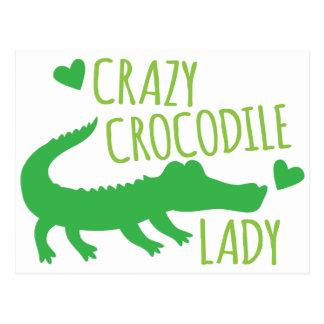 Cartão Postal Senhora louca do crocodilo