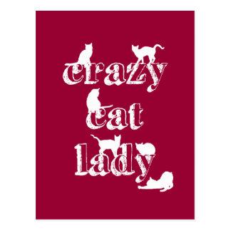 Cartão Postal Senhora louca do gato