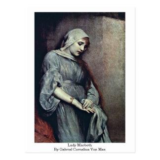 Cartão Postal Senhora Macbeth Gabriel Cornelius Von máximo