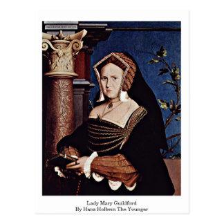 Cartão Postal Senhora Mary Guildford Hans Holbein o mais novo