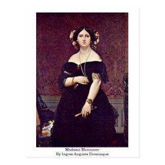 Cartão Postal Senhora Moitessier Ingres Auguste Dominique