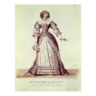 Cartão Postal Senhora Moliere, Armande nee Bejart