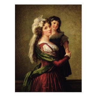 Cartão Postal Senhora Rousseau e sua filha, 1789
