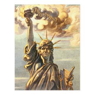 Cartão Postal Senhora sem lei Liberdade