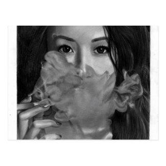 Cartão Postal Senhora Smoking Quente Projeto de Vape
