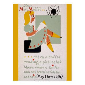 Cartão Postal Senhorita pequena Muffet