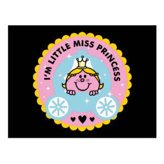 Cartão Postal Senhorita pequena princesa   eu sou uma princesa
