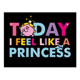 Cartão Postal Senhorita pequena princesa   que eu sinto como uma