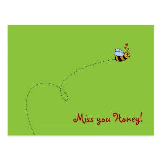 Cartão Postal Senhorita você mel!