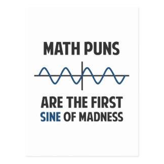 Cartão Postal Seno das chalaças da matemática primeiro da
