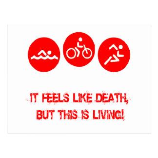Cartão Postal Sente como a morte - Triathlon