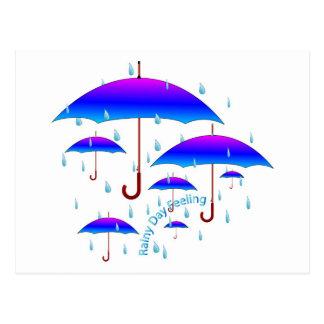 Cartão Postal Sentimento do dia chuvoso