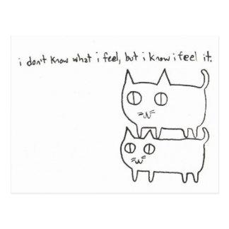 Cartão Postal Sentimentos do gatinho