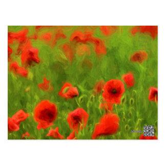 Cartão Postal Sentimentos do verão - a papoila maravilhosa